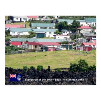 Tristan da Cunha Postcard. Real Photo of Edinburgh Postcard