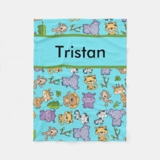 Tristan's Personalized Jungle Blanket