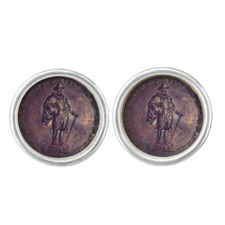 Tristram Coffyn Medallion Cufflinks Silver