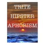 Trite Hipster Aphorism Postcards