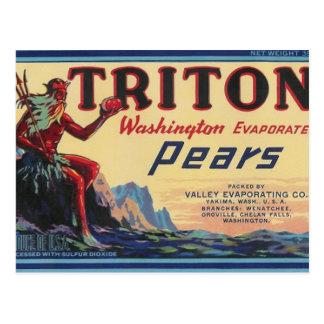triton pears postcard