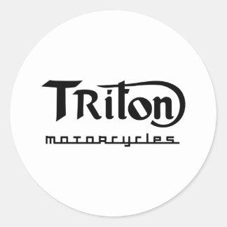 Triton Round Sticker