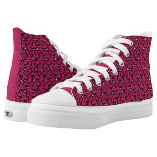 Tritty Painted Foxtrotter Pink High Tops