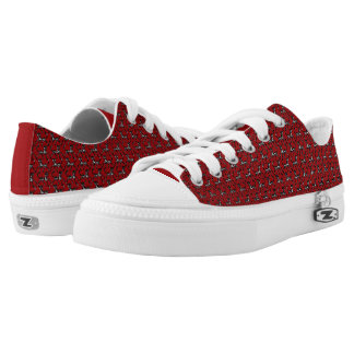 Tritty Painted Foxtrotter Red and Black Low Tops
