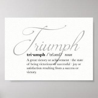 Triumph Definition Poster