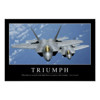 Triumph:: Inspirational Quote 2 Poster