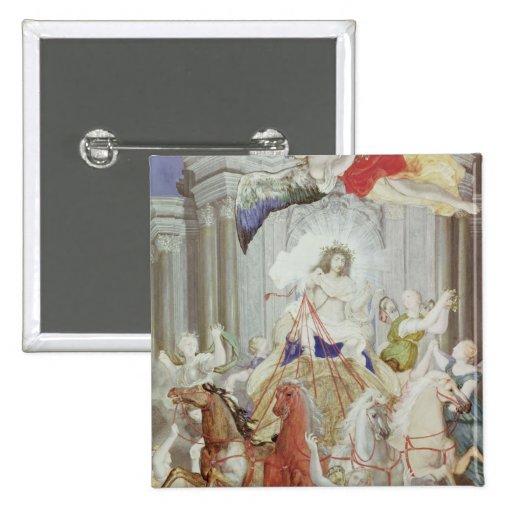 Triumph of King Louis XIV  of France Pinback Button