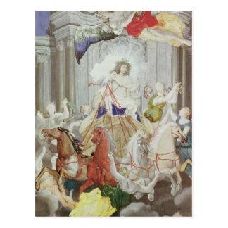 Triumph of King Louis XIV  of France Postcard