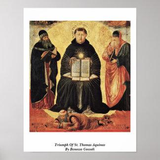 Triumph Of St. Thomas Aquinas By Benozzo Gozzoli Poster