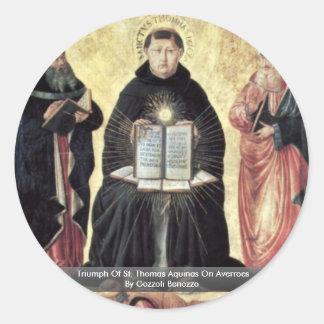 Triumph Of St. Thomas Aquinas On Averroes Classic Round Sticker