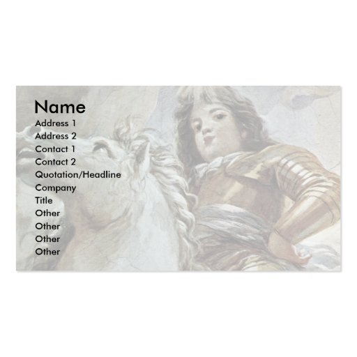Triumph Of The Medici In The Clouds Of Mount Olymp Business Card Template