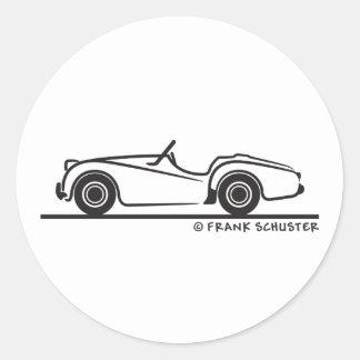 Triumph TR2 Round Sticker