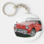 Triumph TR3 Basic Round Button Key Ring