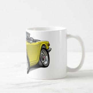 Triumph TR6 Yellow Car Coffee Mug
