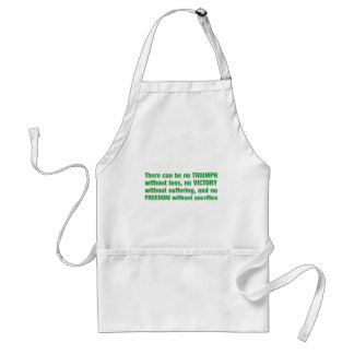 Triumph, victory, freedom - saying aprons