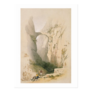 Triumphal Arch crossing the Ravine leading to Petr Postcard