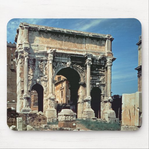 Triumphal Arch of Septimius Severus, dedicated in Mouse Pad