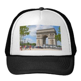 Triumphal Arch on Champs Elysees boulevard in Pari Cap
