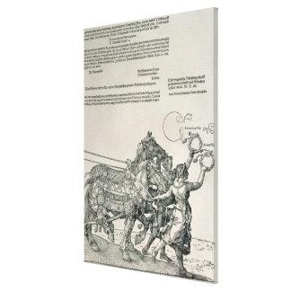 Triumphal Chariot of Emperor Maximilian I Stretched Canvas Print