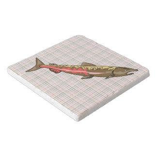 Trivet - Chinook Salmon on Plaid