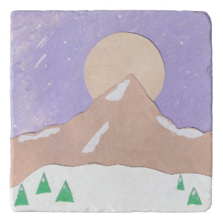 Trivet with Mountain Scene