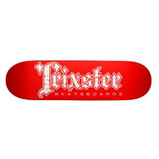 Trixster Skateboards - Distressed White & Red