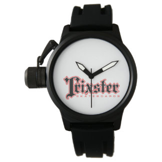 Trixster Skateboards Red & Black Logo Watch