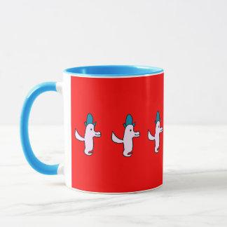 Trois Cute Flying Birds Red Mug