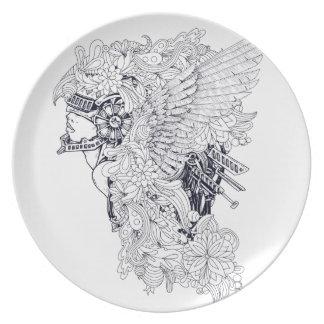 Trojan Party Plate