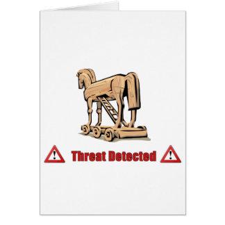 Trojan Threat Detected Card