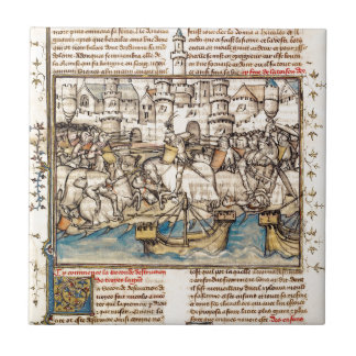 Trojan War Battle Ceramic Tile