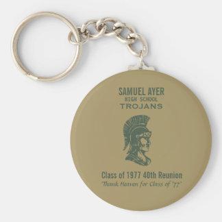 Trojans Class of 77 40th Reunion Key Ring