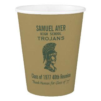 Trojans Green & Gold 40th High School Reunion Paper Cup