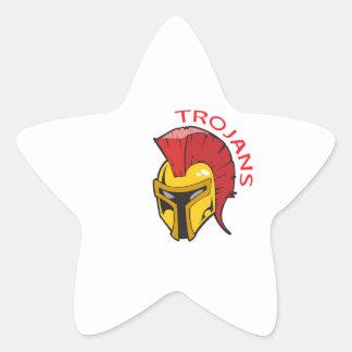 TROJANS MASCOT STAR STICKER
