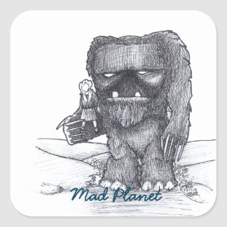 Troll and Companion drawing Square Sticker