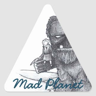 Troll and Companion drawing Triangle Sticker
