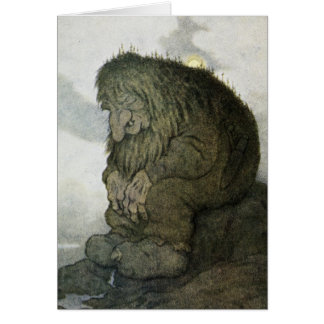 TROLL at Rest Greeting Card