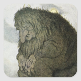 TROLL at Rest Square Sticker