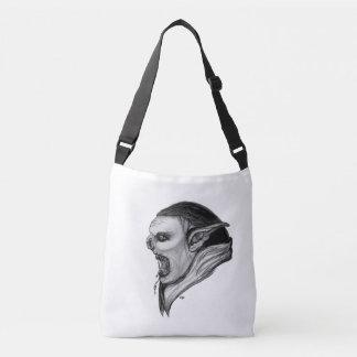 Troll Black and White Design Crossbody Bag