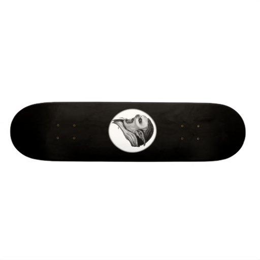 Troll black and white Design Skateboard Decks