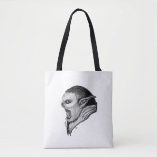 Troll Black and White Design Tote Bag