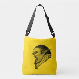 Troll Black and Yellow Design Crossbody Bag
