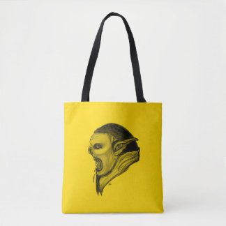 Troll Black and Yellow Design Tote Bag