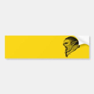 Troll black yellow Design Bumper Sticker