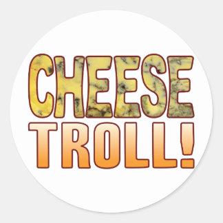Troll Blue Cheese Round Sticker