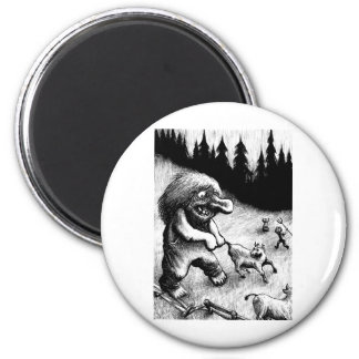 troll-clipart-13 6 cm round magnet