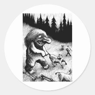 troll-clipart-13 round sticker