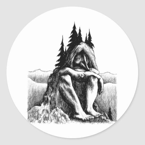 troll-clipart-14 round sticker