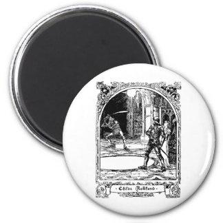 troll-clipart-1 6 cm round magnet