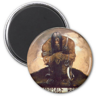 troll-clipart-4 6 cm round magnet